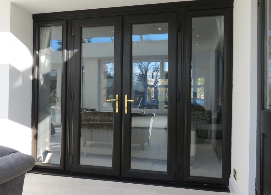 Black Upvc French Doors And Sidelights Otp Supplies Otp Supplies