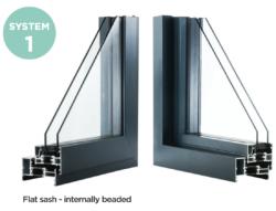 Aluminium window profile 1